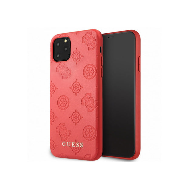 GUESS - Peony Leather Hard Case iPhone 11 Pro Max (GUHCNPEL)-Accessories-Guess-Red-iPhone 11 Pro Max-Starlink Qatar