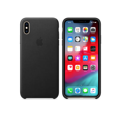 Apple Leather Case iPhone XS Max-Accessories-Apple-MRWT2ZM/A iPhone XS Max Leather Case Black-Starlink Qatar