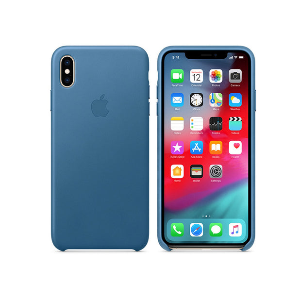 Apple Leather Case iPhone XS Max-Accessories-Apple-MTEW2ZM/A iPhone XS Max Leather Case Cape Cod Blue-Starlink Qatar