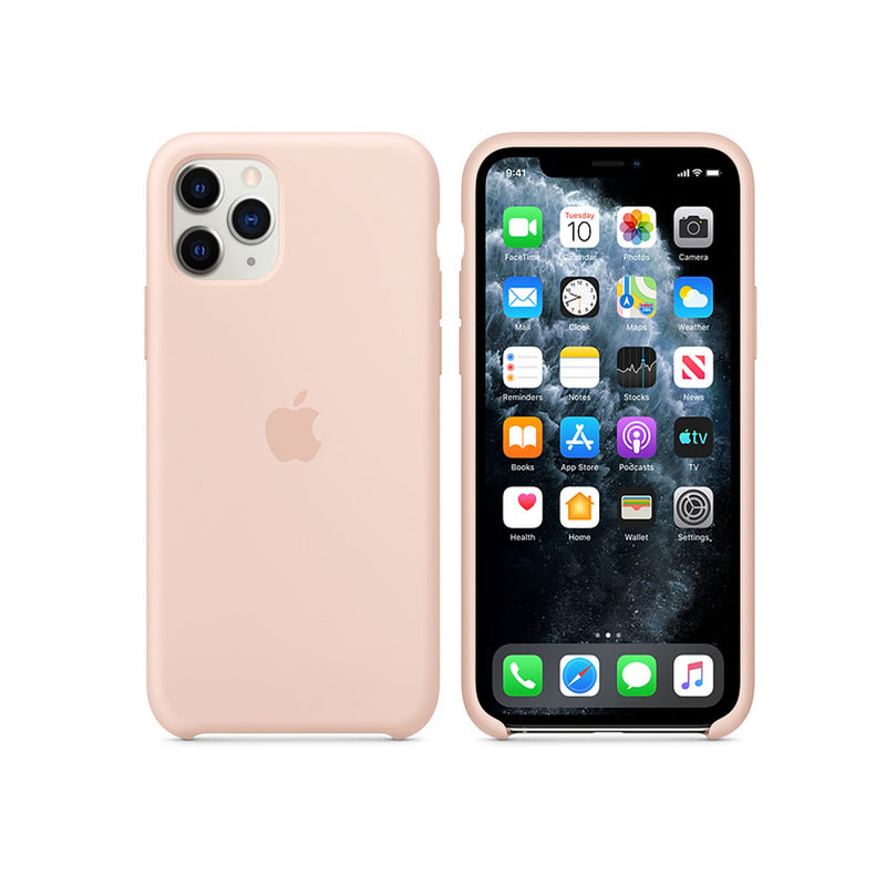 Apple Silicone Case iPhone 11 Series-Accessories-Apple-MWYM2ZM/A iPhone 11 Pro Silicone Case Pink Sand-Starlink Qatar