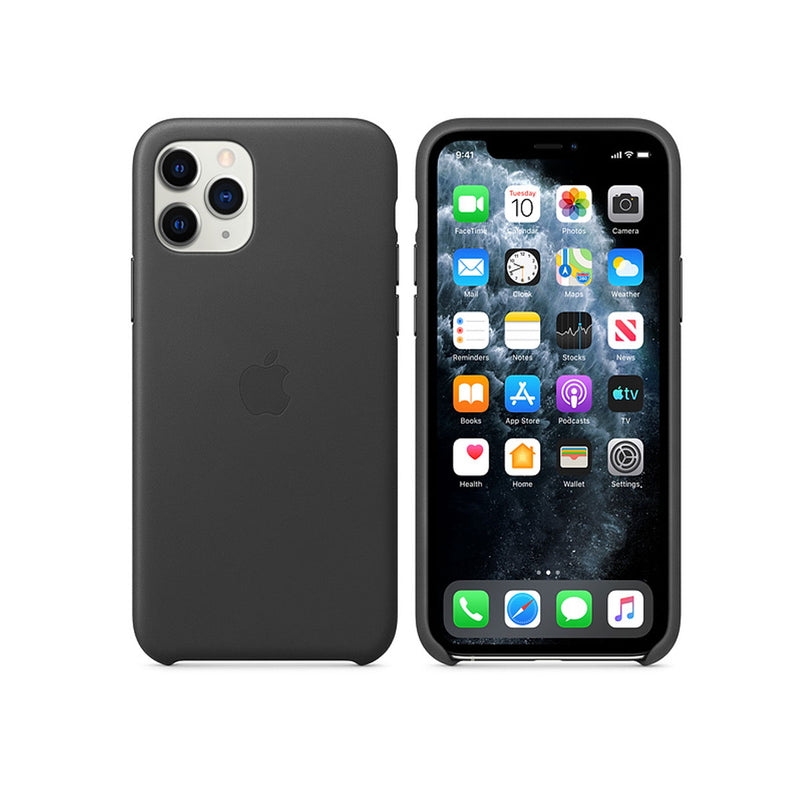 Apple Silicone Case iPhone 11 Series-Accessories-Apple-MX002ZM/A iPhone 11 Pro Max Silicone Case Black-Starlink Qatar