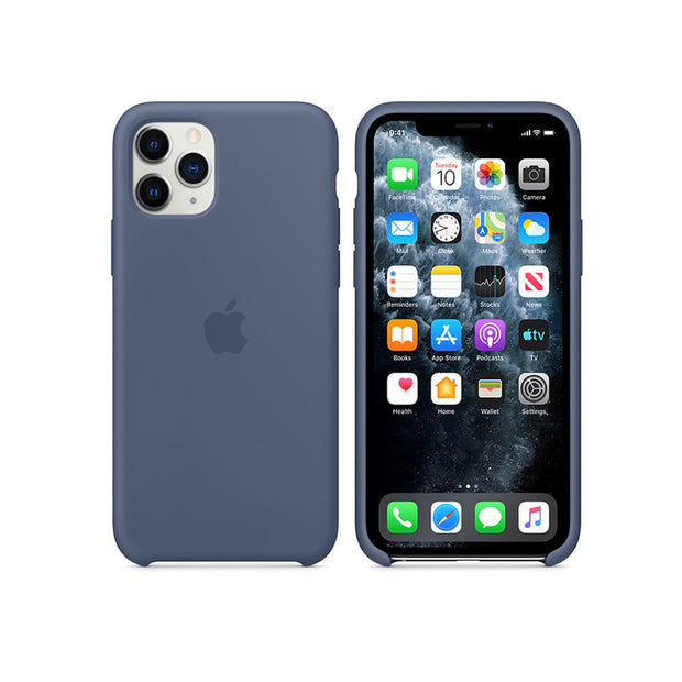 Apple Silicone Case iPhone 11 Series-Accessories-Apple-MWYR2ZM/A iPhone 11 Pro Silicone Case Alaskan Blue-Starlink Qatar