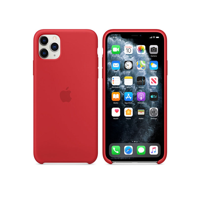 Apple Silicone Case iPhone 11 Series-Accessories-Apple-MWYV2ZM/A iPhone 11 Pro Max Silicone Case Red-Starlink Qatar