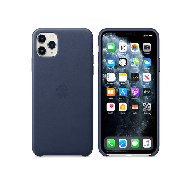 Apple Silicone Case iPhone 11 Series-Accessories-Apple-MWYW2ZM/A iPhone 11 Pro Max Silicone Case Midnight Blue-Starlink Qatar