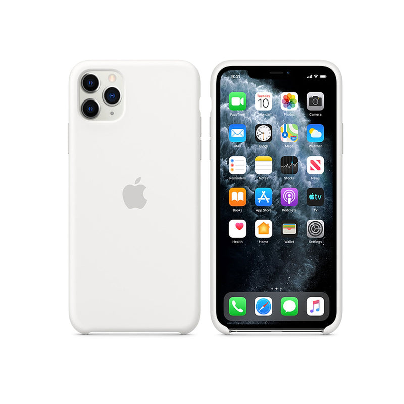 Apple Silicone Case iPhone 11 Series-Accessories-Apple-MWYX2ZM/A iPhone 11 Pro Max Silicone Case White-Starlink Qatar