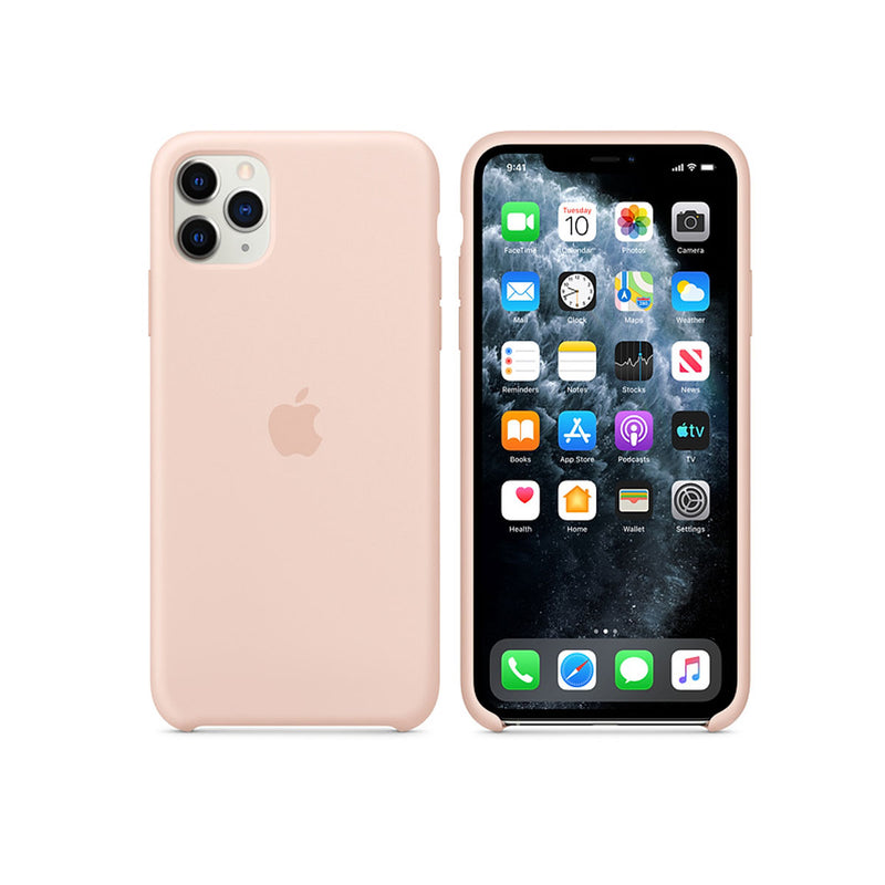 Apple Silicone Case iPhone 11 Series-Accessories-Apple-MWYY2ZM/A iPhone 11 Pro Max Silicone Case Pink Sand-Starlink Qatar
