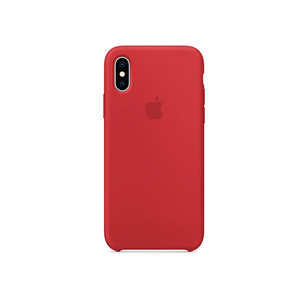 Apple Silicone Case iPhone X/XS-Accessories-Apple-GH2JE7VHKVE2 iPhone X/XS Silicon Red-Starlink Qatar