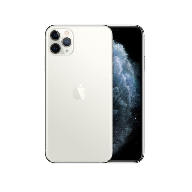 Apple iPhone 11 Pro Max - with Screen protector & cover for 256 GB only-Device-Apple-Silver-512 GB-Starlink Qatar