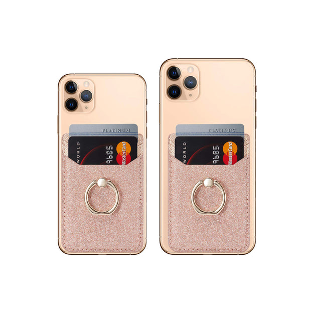 BIAJIYA Phone Card Holder RFID Wallet Smart Phones Rose Gold