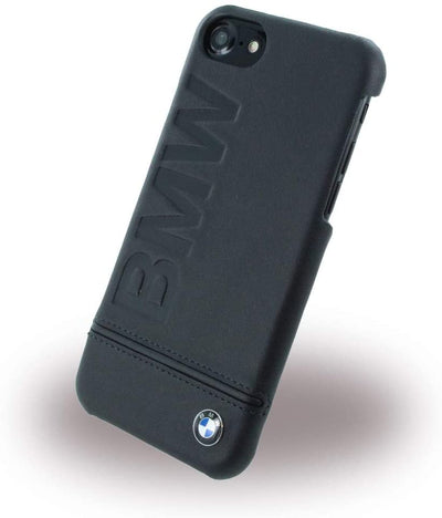 BMW Leather Cover iPhone 7/8 SE2-Accessories-BMW-Black-Starlink Qatar