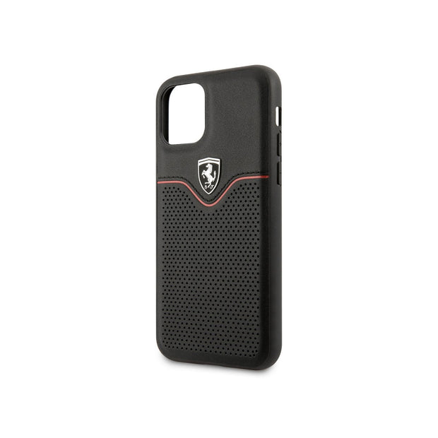Ferrari - Victory Leather Hard Case - iPhone 11 Pro Max (FEOVEHCN)-Accessories-Ferrari-Red-iPhone 11 Pro Max-Starlink Qatar