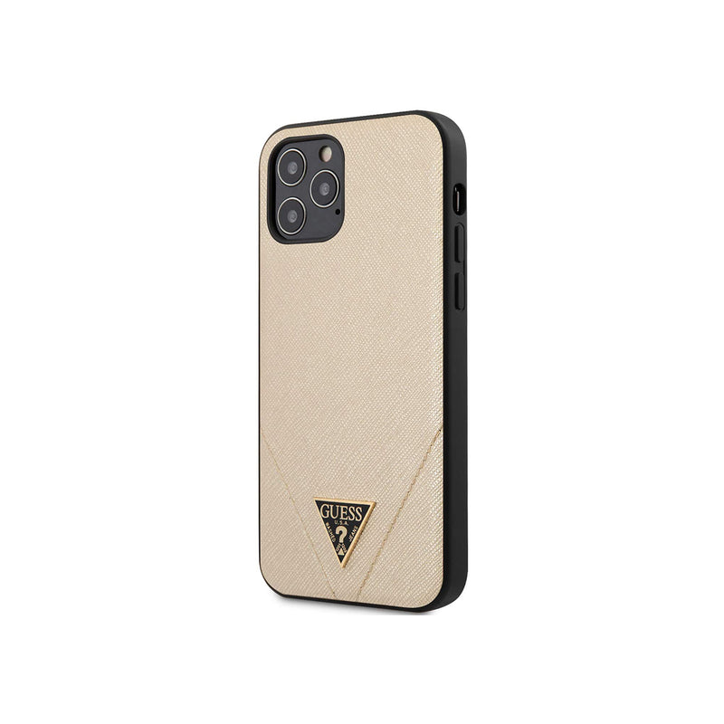 Guess Hardcase Saffiano w/ Triangle Logo for iPhone 12/12 Pro
