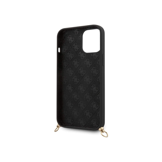 Guess Silicone Printed Hard Case with Logo Strap for iPhone 12/12 Pro