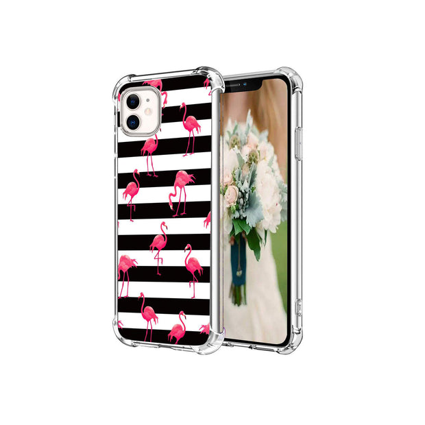 HEPIX iPhone 11 Pro Flamingo Case Black & White Strips