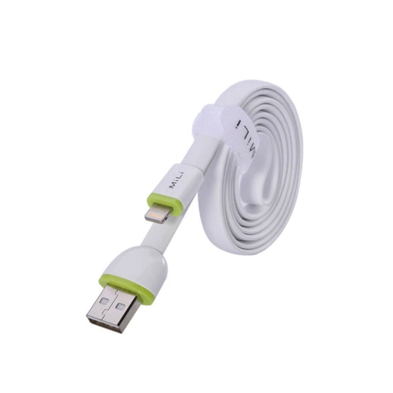 MiLi 8 Pin Cable (1M flat) - HI-L02-1-Accessories-Mili-White-Starlink Qatar