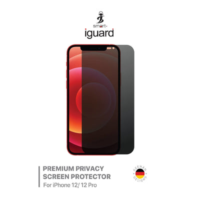 Smart Premium Toughened Privacy Screen Protector for iPhone 12 /12 Pro - IGI12PPCY
