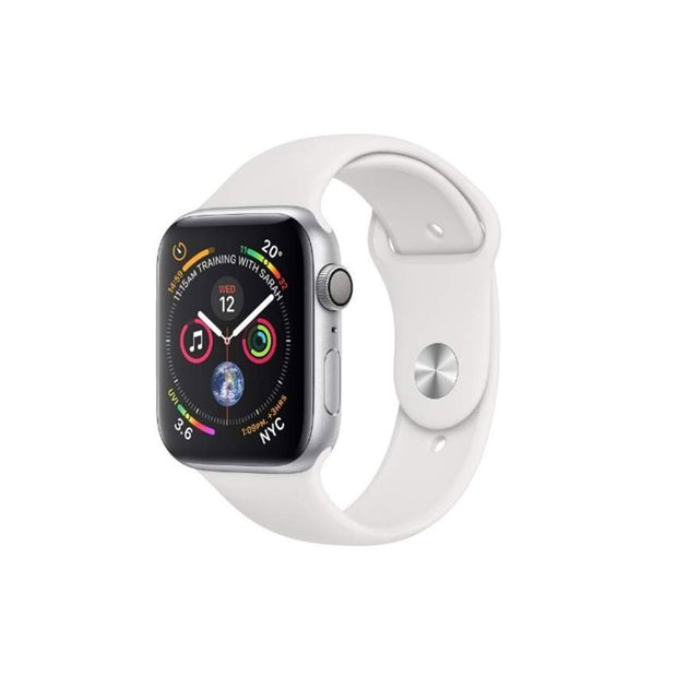 Apple Watch Series 4-Accessories-Apple-MU642AE/A 40mm Silver Aluminium Case with White Band, GPS-Starlink Qatar