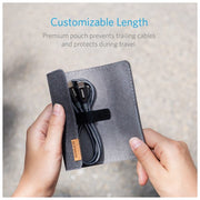 Anker Powerline USB-C 3FT with Pouch - A8187HA1-Accessories-Anker-Gray-Starlink Qatar