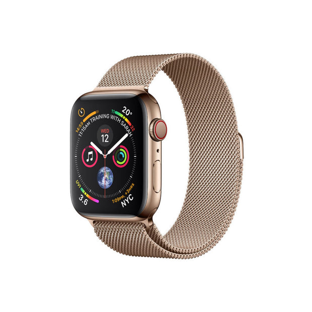 Apple Watch Series 4-Accessories-Apple-MTVQ2AE/A 40mm Gold Stainless Steel Case w/ Gold Loop, GPS + Cellular-Starlink Qatar