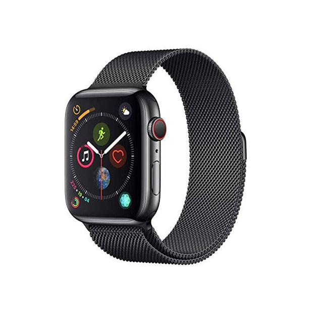 Apple Watch Series 4-Accessories-Apple-MTVM2AE/A 40mm Black Stainless with Black Loop, GPS + Cellular-Starlink Qatar