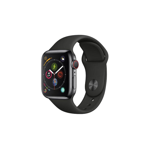 Apple Watch Series 4-Accessories-Apple-MU662AE/A 40mm Space Grey Aluminium Case with Black Band, GPS-Starlink Qatar