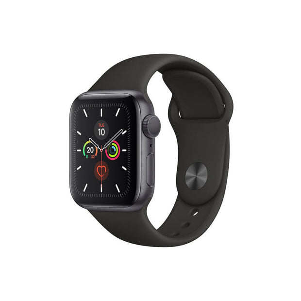 Apple Watch Series 5-Accessories-Apple-MWVF2AE/A 44mm Space Gray Aluminum Case with Black Sport Band, GPS-Starlink Qatar