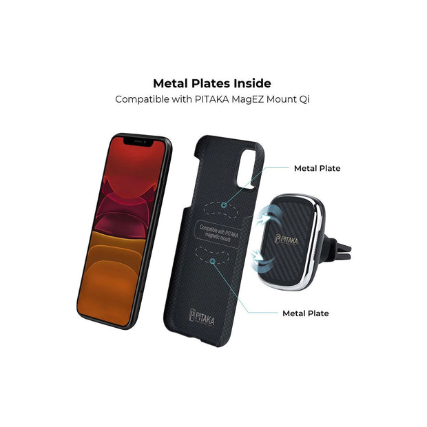 Pitaka MagCase Covers for iPhone 11 Series-Accessories-Others-iPhone 11-Black/Grey-Starlink Qatar
