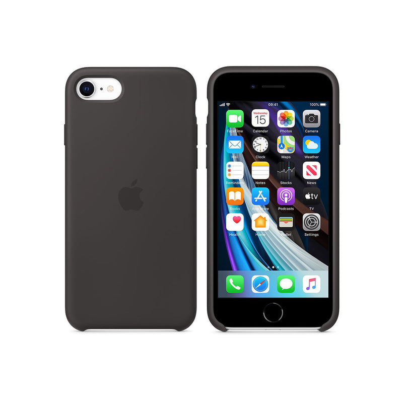 Apple iPhone SE Silicone Case-Accessories-Apple-Black-Starlink Qatar