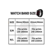 IYOU Sport Watch Band Compatible with Apple Watch 38mm 40mm 42mm 44mm, Soft Silicone Bands Strap Size M/L - Black