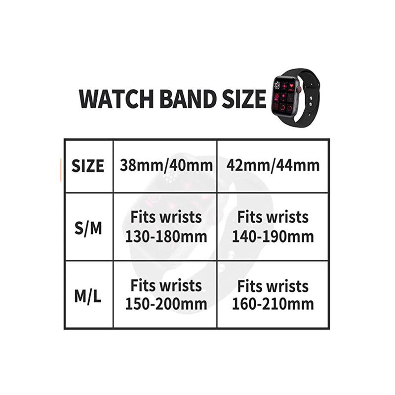 IYOU Sport Watch Band Compatible with Apple Watch 38mm 40mm 42mm 44mm, Soft Silicone Bands Strap Size S/M