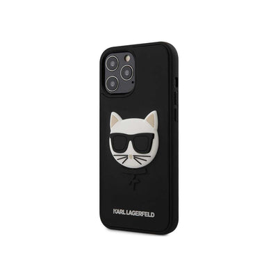 Karl Lagerfeld 3D Rubber Case Choupette Head for iPhone 12/12 Pro