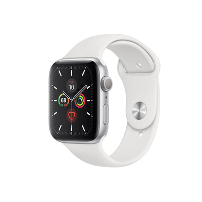Apple Watch Series 5-Accessories-Apple-MWVD2AE/A 44mm Silver Aluminum Case with Sport Band, GPS-Starlink Qatar