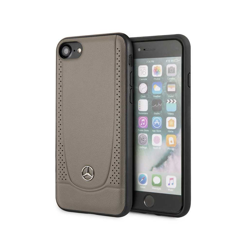 Mercedes Benz - Leather case for iPhone 7/8/SE2-Accessories-Mercedes Benz-Brown-Starlink Qatar