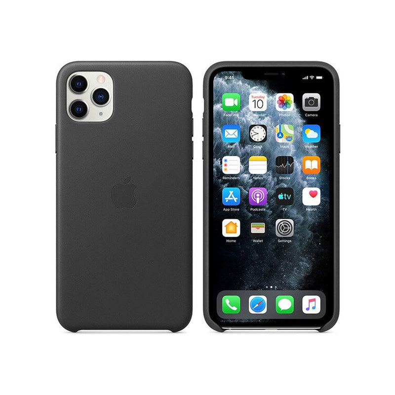 Apple Leather Case iPhone 11 Series-Accessories-Apple-MX0E2ZM/A iPhone 11 Pro Max Leather Case Black-Starlink Qatar