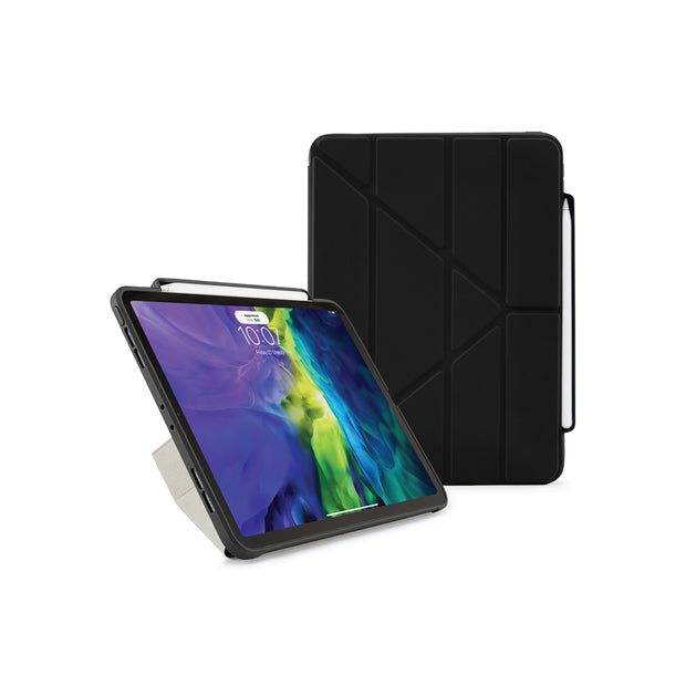 Pipetto iPad Air 10.9 (2020) Origami with Pencil Case - Black