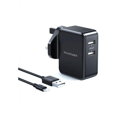 RAVPower 24W Wall Charger +1m Lightning Cable Combo-Accessories-RAVPower-Starlink Qatar
