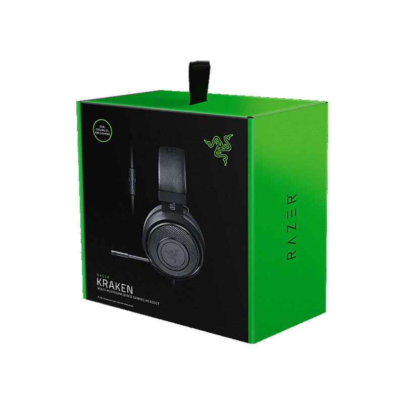 Razer Kraken Multi-Wired Competitive Gaming Headset-Gaming-Razer-Black-Starlink Qatar