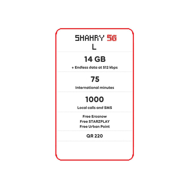 Ooredoo - Shahry 5G Packs-Services-Ooredoo-L-Starlink Qatar