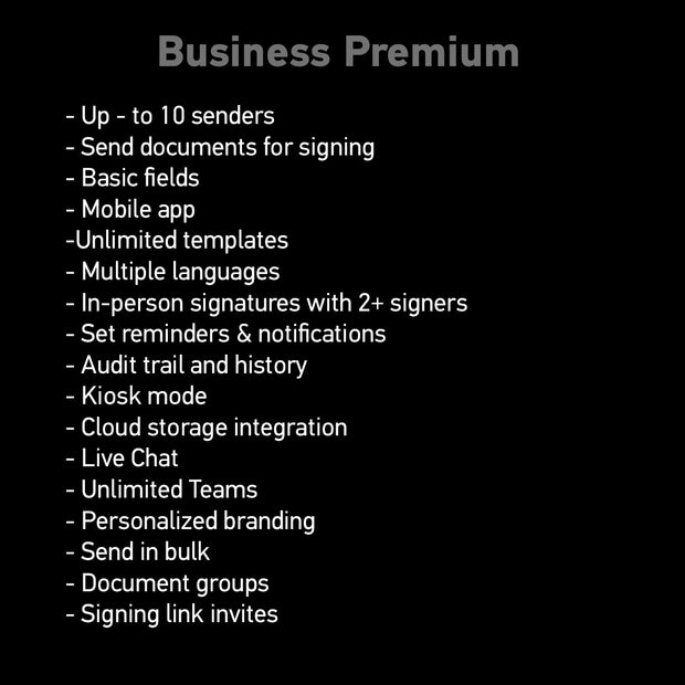 SignNow Plans - E-Signature Built for Enterprises (Yearly)