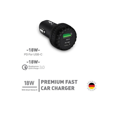 Smart iConnect  Premium 18W Car Charger