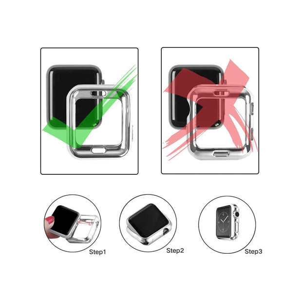 Top4cus Environmental Soft Flexible Case for 38/44 mm Apple Watch - Silver