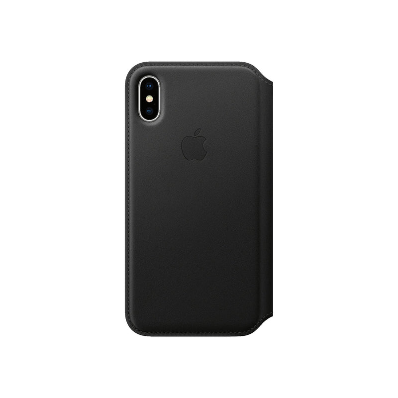 Apple Leather Case iPhone XS-Accessories-Apple-MRWW2ZM/A iPhone XS Leather Folio Black-Starlink Qatar