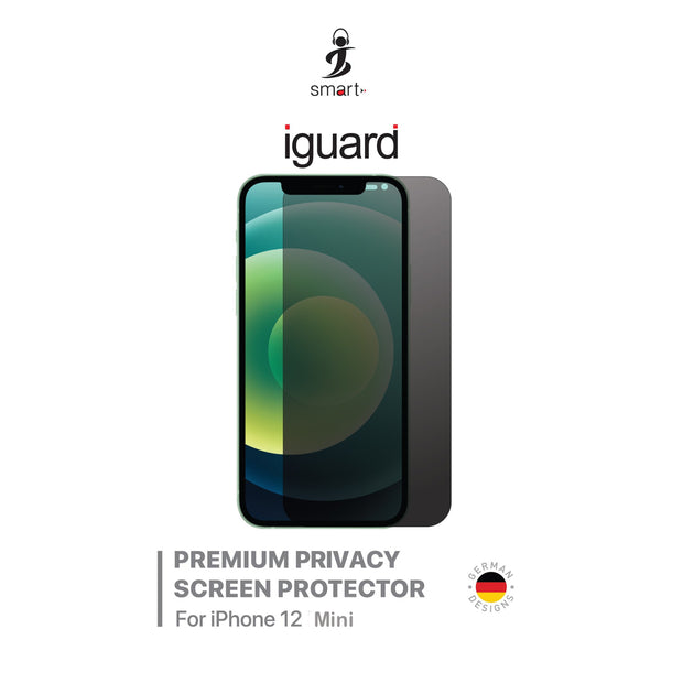 Smart Premium Toughened Privacy Screen Protector for iPhone 12 Mini - IGI12MPCY