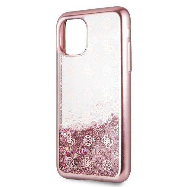 GUESS - Peony Liquid Glitter Hard Case iPhone 11 Pro (GUHCNPEOL)-Accessories-Guess-Rose Gold-iPhone 11 Pro-Starlink Qatar