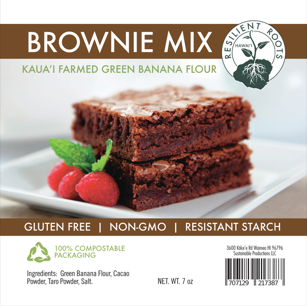 Brownie Mix with Green Banana Flour
