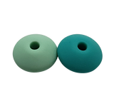 Abacus round corners silicone beads