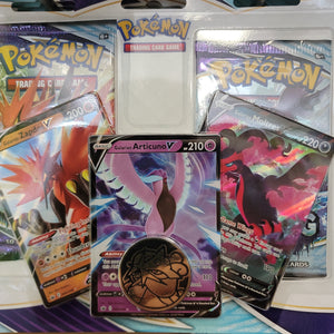 Pokémon TCG : Sword & Shield-Chilling Reign 3 Booster Packs, Articuno 3 Stages Evolution Promo Card & Coin