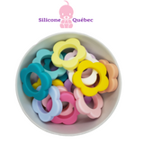 Flowers 40mm silicone beads
