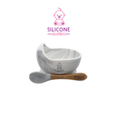 Silicone Suction Bowl with Bamboo spoon Kit