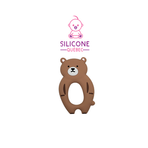 Brown bear Silicone teether